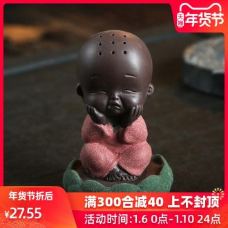 The Product color porcelain sink sand clay young monk tea ceramic that occupy the home furnishing articles chan tea spoil the joys and sorrows