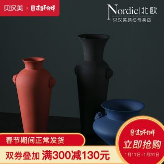 The New Chinese jingdezhen furnishing articles vase soft adornment space decoration example room designer sitting room porch vase