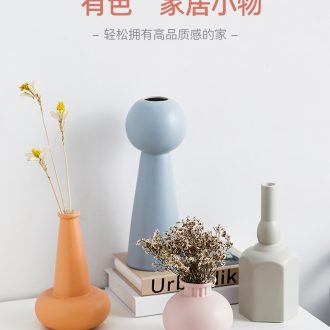 The Nordic ins contracted wind morandi ceramic vase furnishing articles dried flower arranging flowers wine sitting room adornment flowers