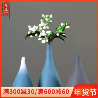 Jingdezhen ceramic vase household adornment European - style dried flower creative living room wine table flower arranging flowers, furnishing articles