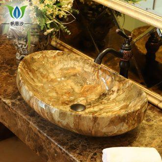 European stage basin sink the ship form imitation marble sinks jingdezhen ceramic household toilet wash gargle