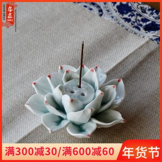 Jingdezhen ceramic fragrance incense buner manual shadow the qing xiang xiang porous line decoration home sitting room tea room adornment