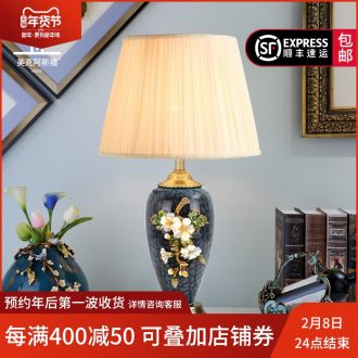 Key-2 Luxury colored enamel porcelain lamp type full copper individuality creative sitting room lamps and lanterns of bedroom the head of a bed lamp act the role ofing villa