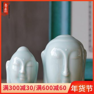 Jingdezhen ceramic Buddha by hand in the first place, the sitting room porch creative zen tea room household decoration town house