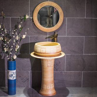 Jingdezhen art pillar basin sinks ceramic floor outside the sink basin bathroom wash basin