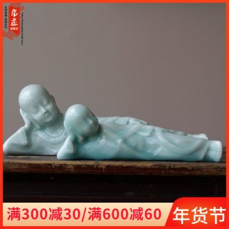 Jingdezhen ceramics for Buddha zen manual craft celadon paperweight furnishing articles home study desktop soft adornment