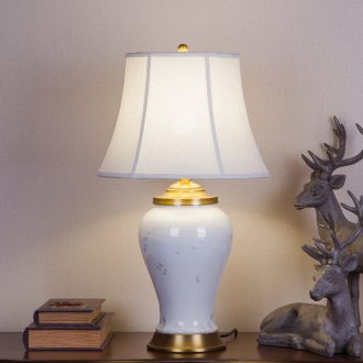 New Chinese style ceramic desk lamp sitting room of bedroom the head of a bed soft outfit villa clubhouse lobby engineering custom creative lamps and lanterns