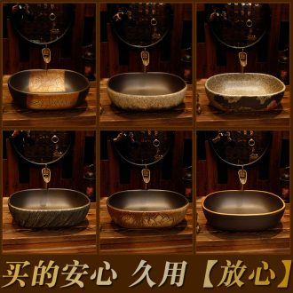 Archaize stage basin rectangle sink basin basin bathroom sinks the oval art ceramics of the basin that wash a face