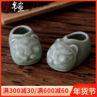 Porch is the key to the receive furnishing articles little ins creative express it in the desktop teahouse jingdezhen ceramic celadon car decoration