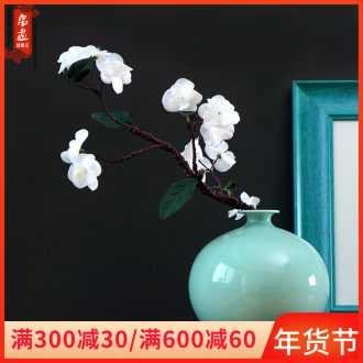 Jingdezhen furnishing articles flower arranging flowers floral modern Oriental floral empty inspiration shadow green hand flower hydroponics