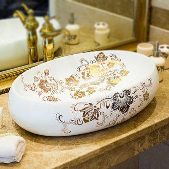 European stage basin art creative household lavatory water basin bathroom ceramic face basin bathroom sink