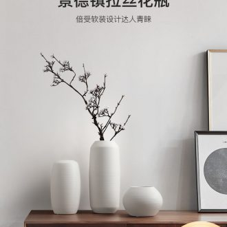 Nordic creative I and contracted sitting room, the dried flower arranging flowers white drawing ceramic vase furnishing articles household act the role ofing is tasted