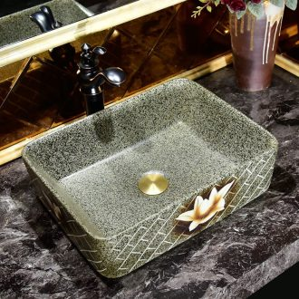 Square art ceramic toilet lavabo stage basin basin sink basin sinks contracted household restoring ancient ways