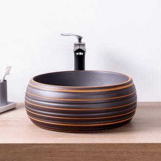 Ceramic round the stage basin sink small art basin bathroom balcony hotel pool lavatory basin
