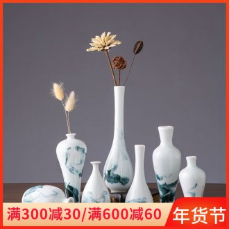 Floret bottle place small sitting room creative flower arranging, lovely small expressions using narrow expressions using water raise jingdezhen ceramic dried flowers, flowers