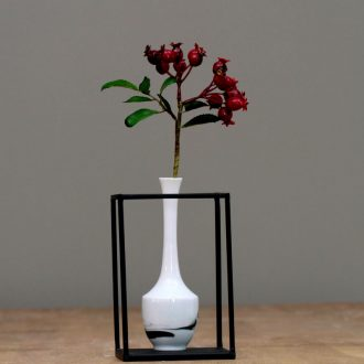 Jingdezhen dried flower vase ink painting Chinese creative furnishing articles fashion flower implement hydroponic flower home decoration