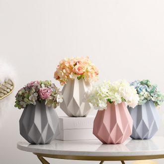 Boreal Europe style origami ceramic vase furnishing articles simulation vase creative living room home decoration flower arranging flowers