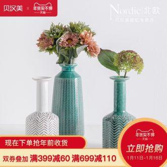 American ceramic vase Nordic modern household living room TV cabinet table flower arranging flowers adornment furnishing articles