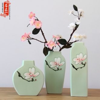 Jingdezhen creative modern new Chinese pottery and porcelain flowers in the living room TV wine porch home furnishing articles