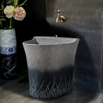 Ling yu, grind arenaceous household ceramics art mop pool mop pool trough pool is suing balcony toilet mop mop pool