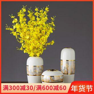 Jingdezhen ceramic key-2 luxury furnishing articles furnishing articles vase American sitting room porch dried flower flower flower decoration