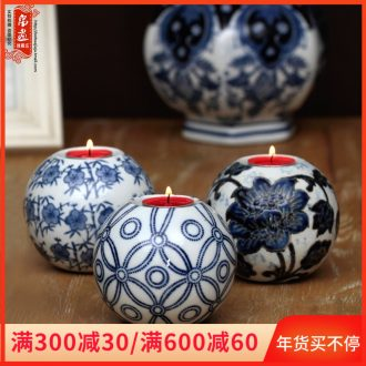 Candlestick ceramic Chinese Europe type restoring ancient ways programs hotel western - style romantic candlelight dinner table household decorative furnishing articles