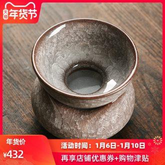 Longquan celadon manual ice crack) ceramic creative tea tea strainer kung fu tea accessories an artifact