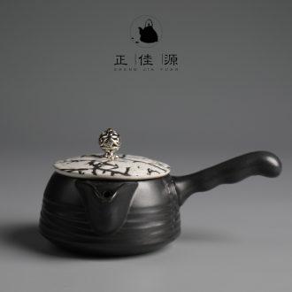 Are good source of black ceramic teapot coarse pottery kung fu tea sets tea pot home office teapot tea pot