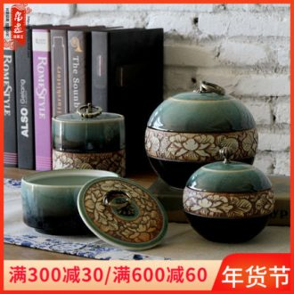 Porch is the key to the receive furnishing articles of jingdezhen ceramic up caddy fixings simple manual its creative furnishing articles sitting room