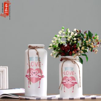 Nordic light and decoration ceramics dried flower vase creative flamingo flowers sitting room place flowers home decoration decoration