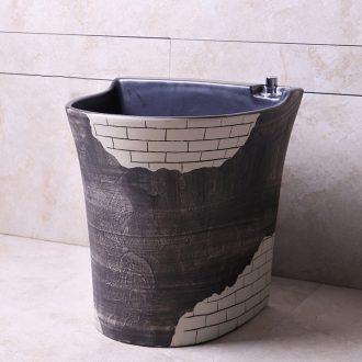 The Mop pool home balcony code ceramic toilet automatic Mop pool water basin floor Mop pool
