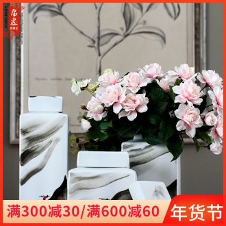 The New Chinese jingdezhen hand - made ceramic pot is placed between example sitting room decoration soft adornment theme cafe restaurant