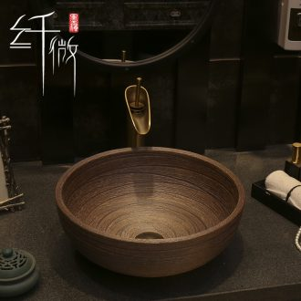 Basin of Chinese style restoring ancient ways home round the sink on the ceramic art fashion toilet wash dish washing Basin