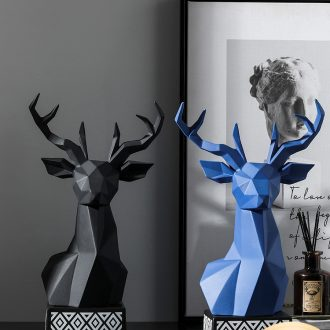 Nordic light geometric deer head key-2 luxury furnishing articles household act the role ofing is tasted ceramic creative living room TV ark, desktop decoration
