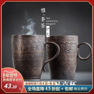 Checking mugs ceramic coffee cup thick ceramic creative cup, office cup milk cup ultimately responds cup