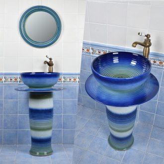 Pillar basin sink garden balcony ceramic sinks one Pillar sink is suing ground sink