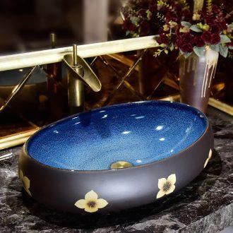 On the ceramic basin to European oval art basin bathroom sink basin sinks household balcony