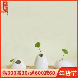 Jingdezhen ceramic floret bottle furnishing articles mini ultra - small desktop express little expressions using flower flower implement office decoration