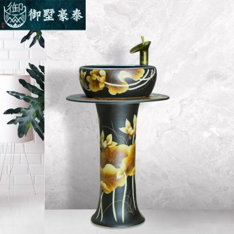 Art ceramic pillar lavabo circular toilet lavatory basin floor balcony household restoring ancient ways