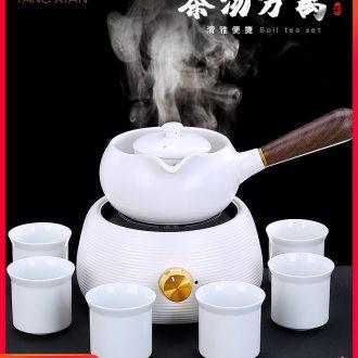 Tang Xian white porcelain boiling tea machine electric heating TaoLu puer tea pot home tea stove'm ceramic tea set
