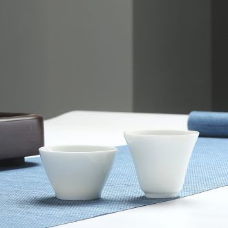 Quiet life high white porcelain cup white porcelain cup ceramic tea set a character single cup of kung fu cup sample tea cup