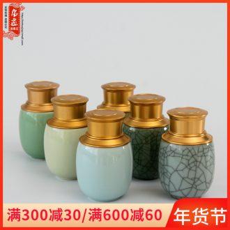 Longquan celadon tea set ceramic tea pot portable small household seal tea pot pu 'er tea tea pot tea boxes