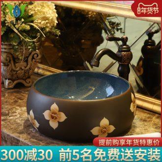 The stage basin sink basin new Chinese jingdezhen ceramics home for wash gargle The basin that wash a face wash basin