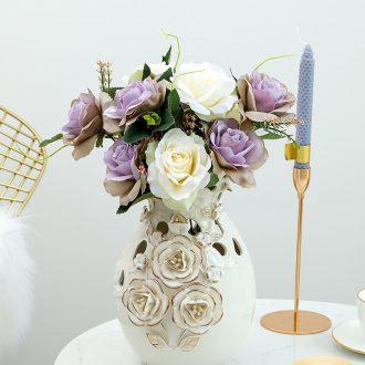 European vase furnishing articles sitting room adornment see colour rose vase vases, ceramic vase wedding housewarming gift