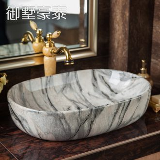 Easy on the ceramic bowl lavatory basin European - style bathroom sink I and contracted household water basin