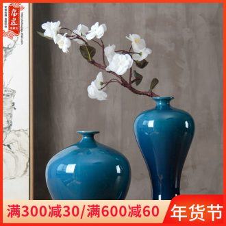 Jingdezhen ceramic vase household contracted sitting room adornment is placed on the dried flower arranging flower implement European big vase