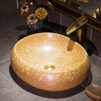 Jingdezhen art stage basin creative ceramic lavatory move basin basin on restoring ancient ways is the sink