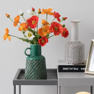 Ins Nordic vase furnishing articles dried flowers flower arrangement table creative contracted sitting room Bohemia ceramic flower decoration