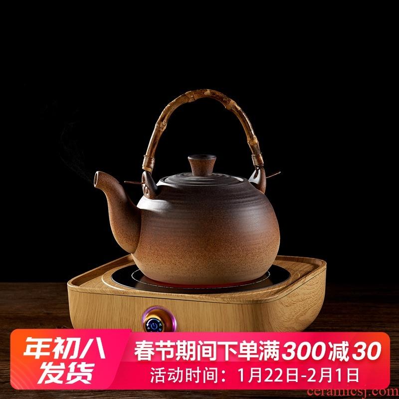 Household ceramic kung fu tea kettle pot clay POTS small electric TaoLu boiled tea, the tea stove small mini.mute