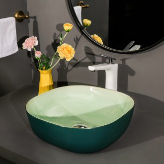 Square stage basin balcony sink ceramic toilet lavatory household art crackle of the basin that wash a single basin